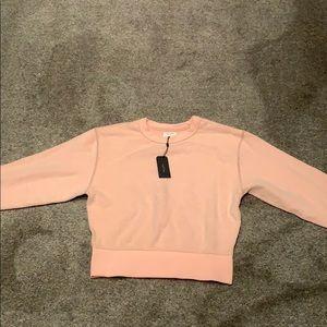 Light pink rag and bone sweatshirt